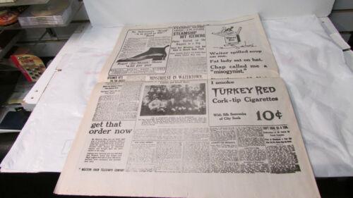 "THE BOSTON DAILY GLOBE newspaper /""Titanic Sinks 1500 Die/""  ~~ REPRINT"