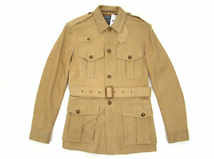 Suede Leather Nwt Safari S Details Jacket Lauren New Small Belted About Polo Ralph KJ1cTlF