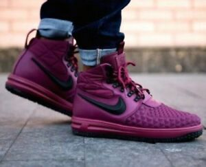 Details about NIKE LUNAR FORCE 1 LF1 DUCKBOOT '17 BORDEAUX BURGUNDY RED BLACK BOOTS 916682 601