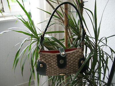 Details zu Guess Tasche grün braun klein 26x13 cm