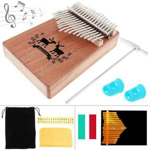 Beautiful 17 Key Kalimba Elk Sound Hole Single Board Mahogany Thumb Piano Mbira Mini Keyboard Instrument With Complete Accessories Home
