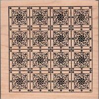 Outlines Rubber Stamp Co. Quilt Pattern Large Rubber Stamp,