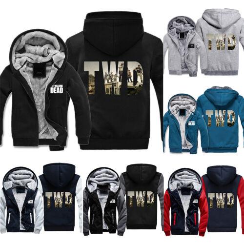 Winter Zipper Sweatshirt Cosplay The Walking Dead TWD Hoodie Jacket Costume