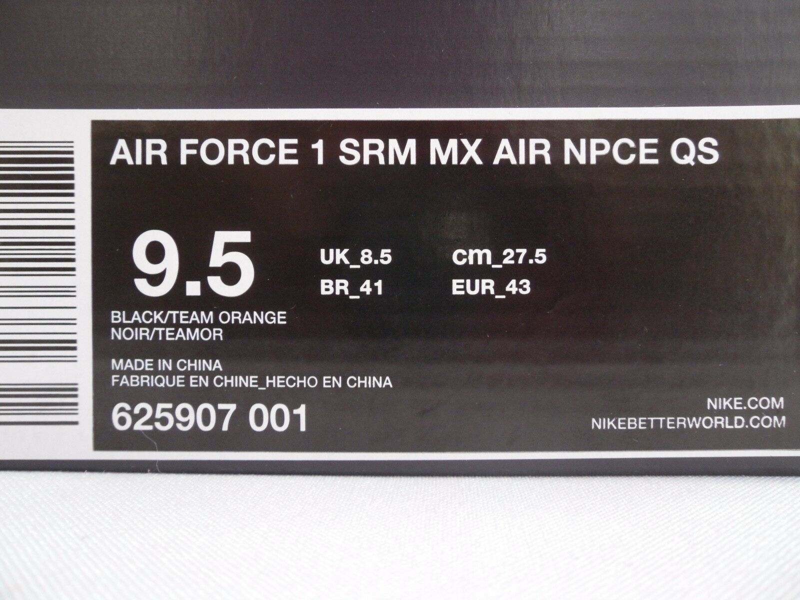 NIKE AIR FORCE 1 SUPREME MAX AIR NPCE NPCE NPCE QS ELEPHANT PRINT SZ 9.5 [625907-001] 4b1fa8
