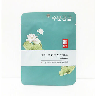 [Illy]Mask sheet, Intensive Moisture, Oriental, Face Total Care, K-Beauty, Lotus