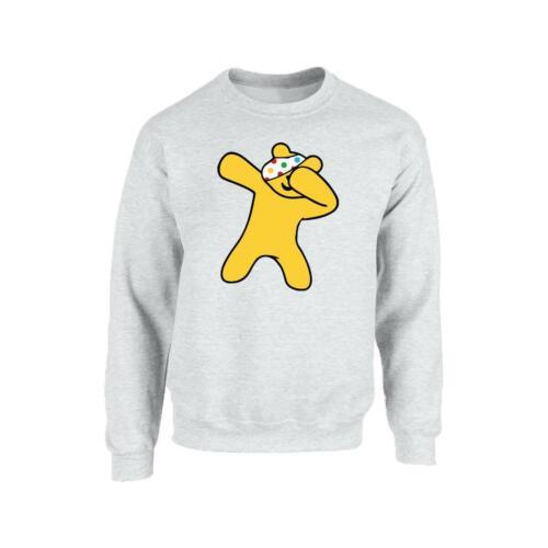 Spotty Panda Dab Unisex Men Youth Spotty day Pudsey Bear Pullover Sweat Shirt