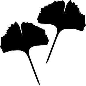 1-Paire-2-Feuilles-30cm-Noir-Plein-Ginkgo-Balai-Autocollant-Tatouage-Ginko
