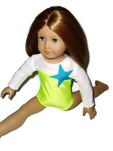 Competition Star Leotard 18 inch doll clothes fits American Girl Gymnastics