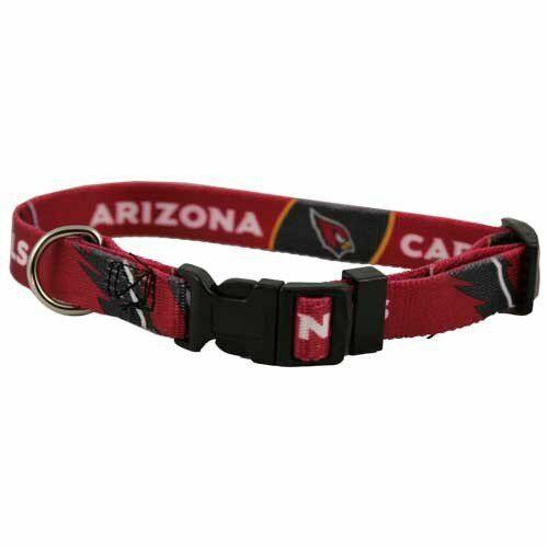 NEW ARIZONA CARDINALS PET SET DOG COLLAR LEASH ID TAG ALL SIZES LICENSED