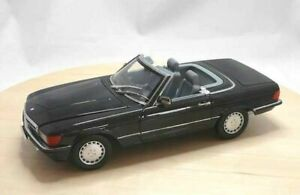 NOREV-183726-MERCEDES-300SL-1986-blue-black-hardtop-diecast-model-car-Ltd-1-18