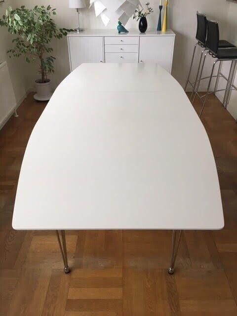 Spisebord, hvid melamin, b: 100 l: 170