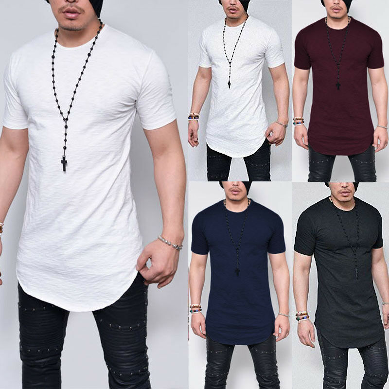 d52d1a4374f2f Fashion Men s Slim Fit O Neck Short Sleeve Muscle Tee T-shirt Casual Tops  Blouse