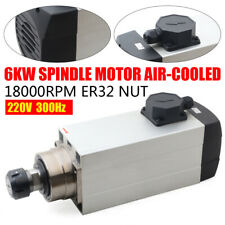 6kw Air Cooled Ac Spindle Motor Er32 220v 18000rpm Woodworking Cnc Router