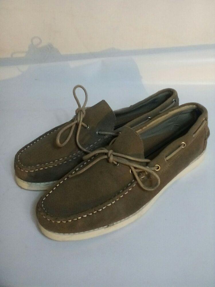 + Homme Fluid Harbour Bateau Pont Chaussures Beige Mocassin Taille Uk 11/12us: 64 Adopter Une Technologie De Pointe