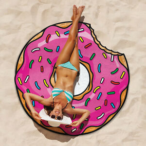 BigMouth Gigantic Frosted Donut Beach Pool Lake Blanket