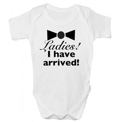 Cordiale Funny Signore! Io Sono Arrivati! Babygrow-divertente Abbigliamento Bambini-
