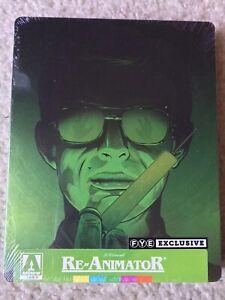 Re-Animator-Blu-Ray-Steelbook-FYE-Exclusive-Arrow-Limited-Edition-RARE-OOP