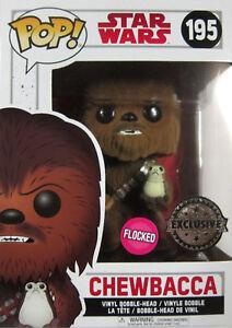 Funko Pop - Limited Flocked Edition The Last Jedi Professionelles Design Gut Ausgebildete Star Wars Chewbacca +porg