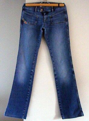 """Fashion Style Diesel """"solo Il Coraggioso"""" Blu Pietra Lavato Jeans Donna (taglia 27)-mostra Il Titolo Originale"""
