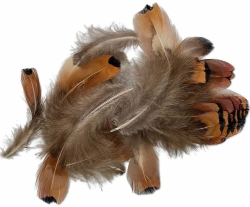 Approximately 60-100 0.07 Ounce Natural Pheasant Feathers with Natural Heart