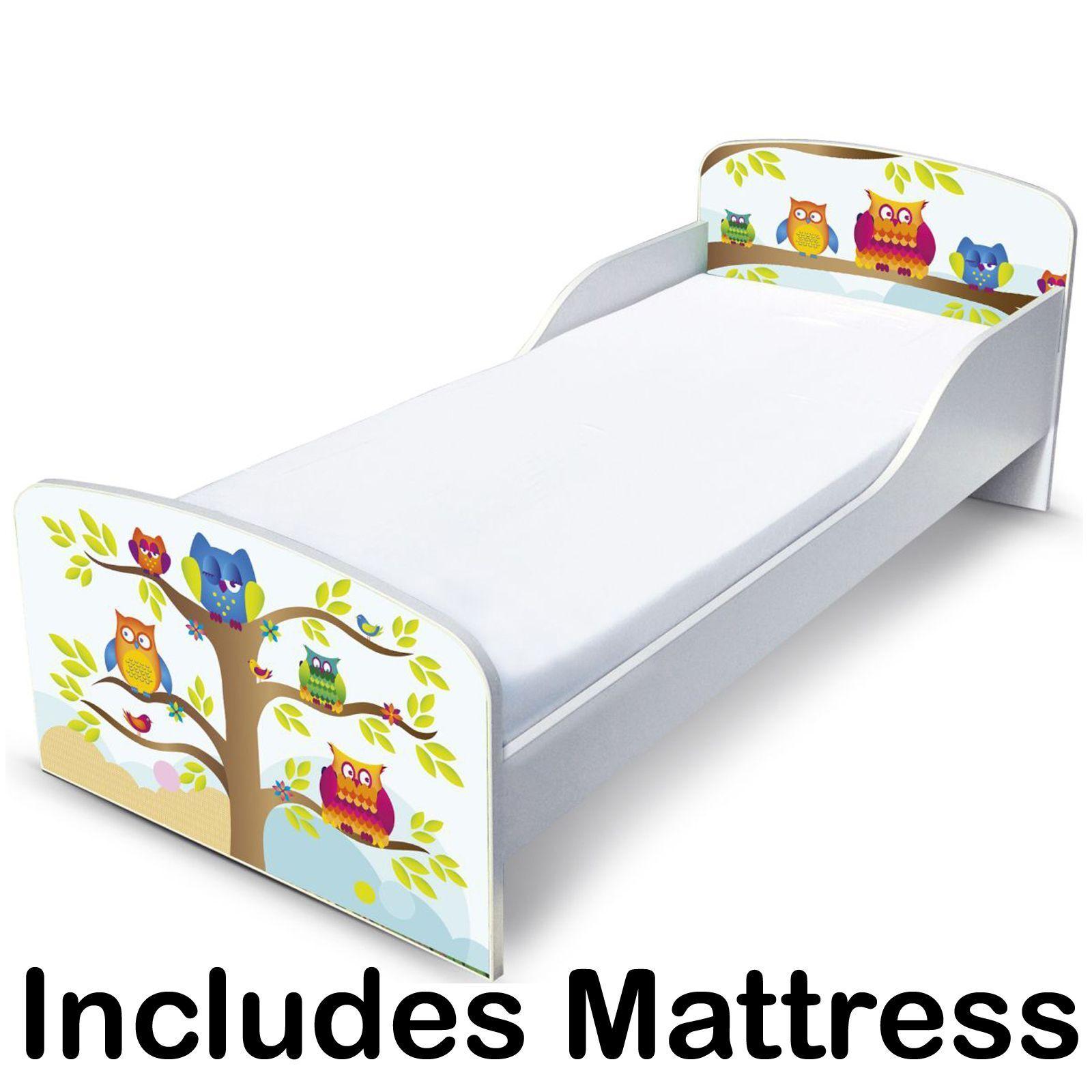 HIBOUX MDF TOUT-PETIT Bed & Entièrement Sprung Matelas Neuf chambre