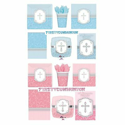 COMMUNION BLUE /& PINK BLESSING Tableware /& Decorations {Amscan} Banner//Balloon