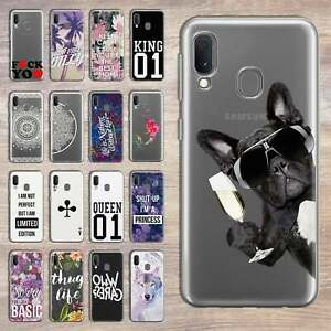 Samsung-Galaxy-A20-A20e-Cover-Case-Phone-Cover-Curb-Silicone-Glass