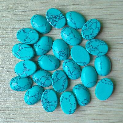 Wholesale 50pcs/lot turquoise Stone mixed Oval CAB CABOCHON stone beads 13*18mm