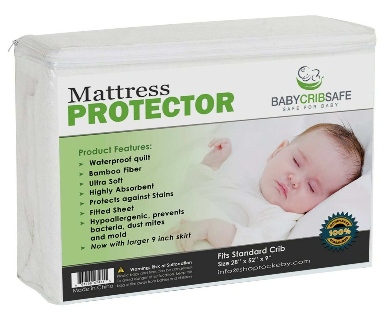 Best Waterproof Crib Mattress Protector Pad Hypoallergnic Fitted Qulted Sheet For Sale Online