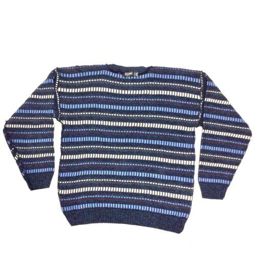 redondo Sudadera Tamaño Scandia cuello para con hombre multicolor vintage Suéter L wZrZqE7xH