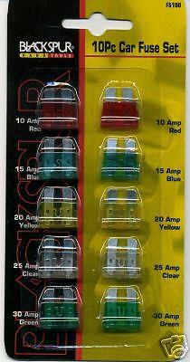 10 Piece Car Fuse Set
