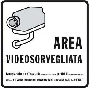 Adesivi adesivo sticker cartello video sorveglianza for Adesivi per piastrelle 20x20