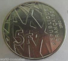 5 francs Pierre Mendès 1992  : SUP : pièce de monnaie française