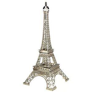 Paris France Silver Metal Eiffel Tower