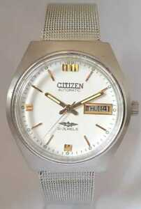 Vintage-Citizen-Automatic-Movement-No-8200-Gold-Plated-Japan-Made-Men-s-Watch