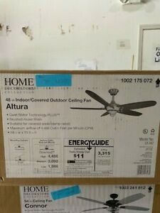Home Decorators Collection Altura 48 Indoor Outdoor Brushed Nickel Ceiling Fan Ebay