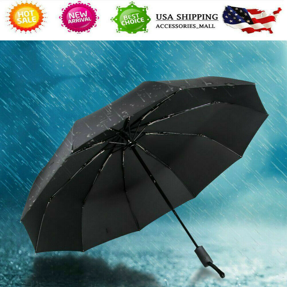 Windproof Travel Umbrella Mickey Mouse Compact Folding Umbrella Automatic Open//Close