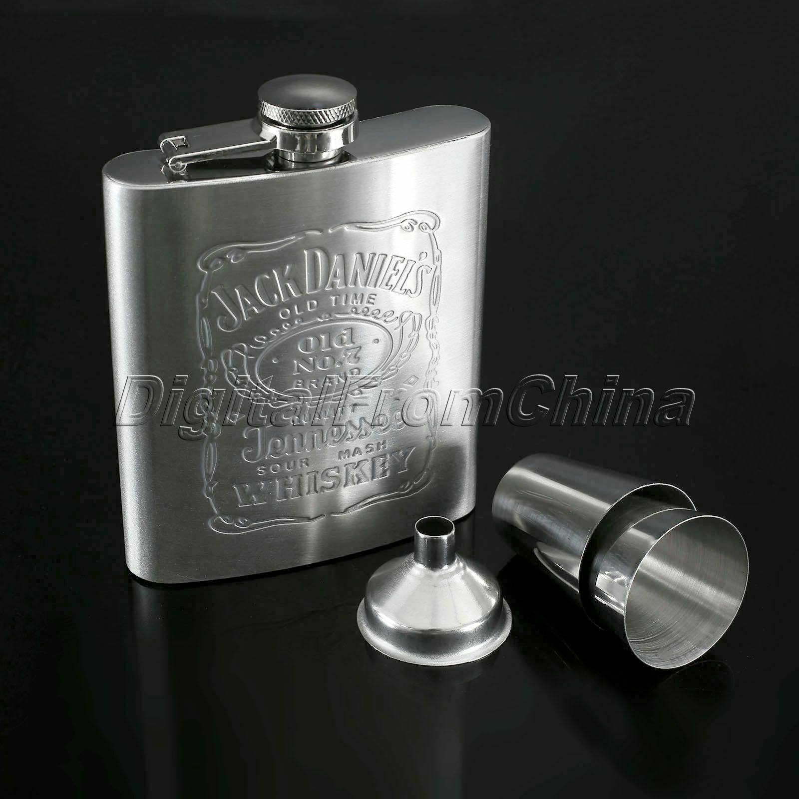 Stainless Steel Liquor Hip Flask 7oz Whiskey Alcohol Wine Flagon Bottle Men Gift