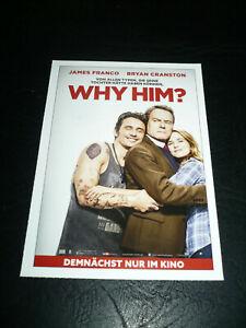 Details About Why Him Film Card James Franco Bryan Cranston Zoey Deutch Megan Mullally