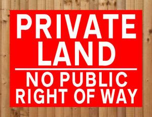 Private Property No Public Right Of Way Aluminium Sign 300mm x 200mm Black