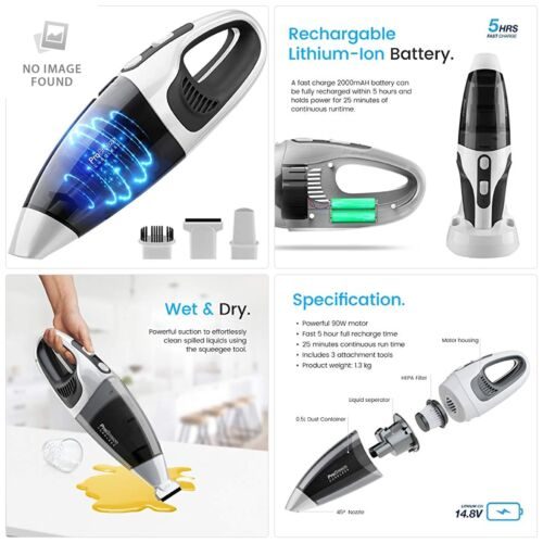Pro Breeze® 14.8V Wet & Dry Handheld Vacuum Cleaner, Ultra-Powerful, Cordless a
