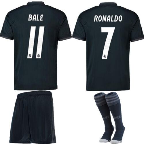 Socks Team Suit 2018-19 Football Kit Kids Boys Youth Soccer Short Sleeve Jersey