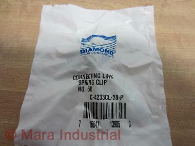 TWO LINKS! 2 DIAMOND CHAIN CONNECTING LINK NO.60 #C-4233CL-08-P 716647139850