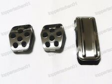 Stainless Steel Foot Rest Fuel Brake MT Pedals Pads for Ford Focus 2005-2014