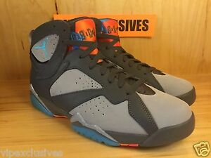 New Nike Air Jordan 7 VII Retro Barcelona Days Bobcats Grey 304775-016 sz 6Y