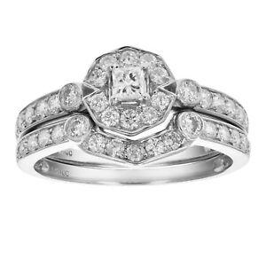 3-4-CT-Diamond-Wedding-Engagement-Ring-Set-14K-White-Gold
