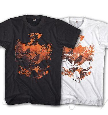 * T-shirt Nightmare Skull Casual Look Teschio-camicia Nuovo S-xxxl Ns410 *-mostra Il Titolo Originale