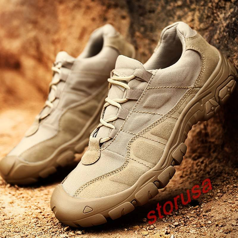 Mens Outwear Breathable Lace Up Climbing shoes Non-slip Sport Military shoes sz