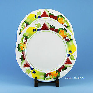Image is loading Fruit-Punch-Sonoma-Home-Set-of-2-Dinner-  sc 1 st  eBay & Fruit Punch Sonoma Home Set of 2 Dinner Plates Life + Style NEAR ...