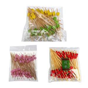 100Pcs-Disposable-Bamboo-Heart-Skewers-Fruit-Dessert-Cake-Cute-Food-Sticks-Home